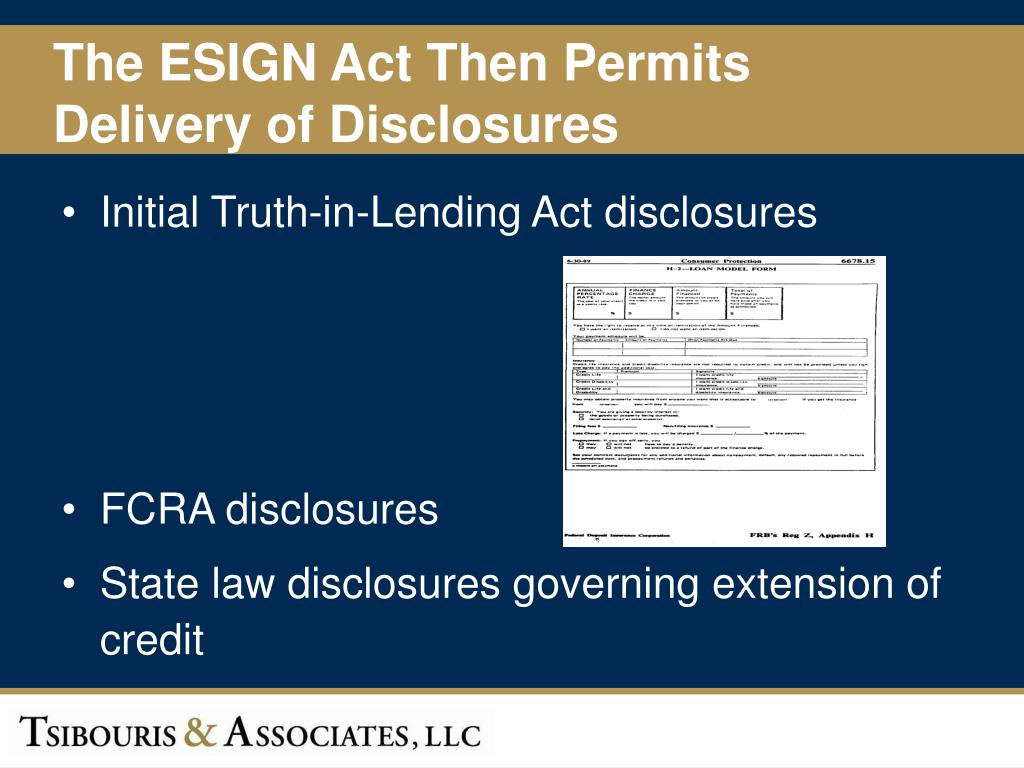 The ESIGN Act Then Permits