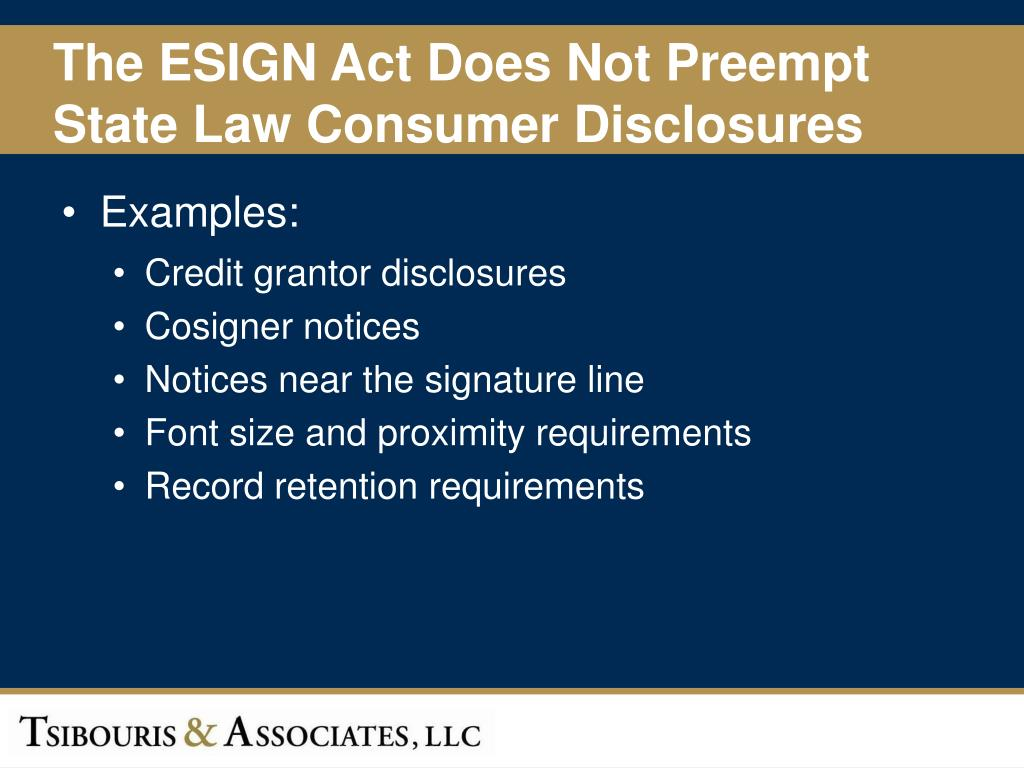 The ESIGN Act Does Not Preempt