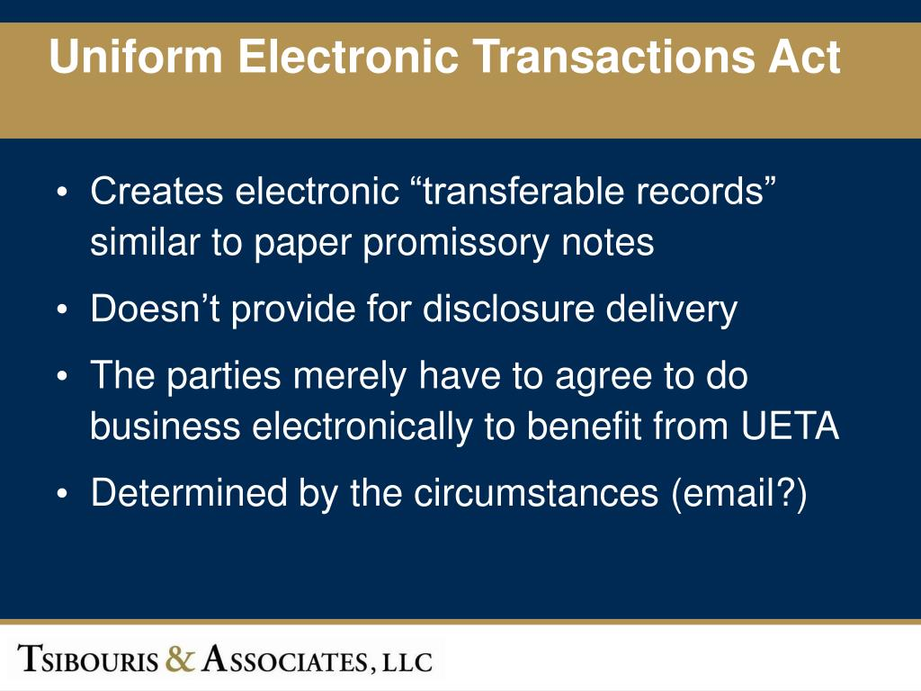 Uniform Electronic Transactions Act