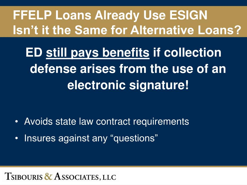 FFELP Loans Already Use ESIGN