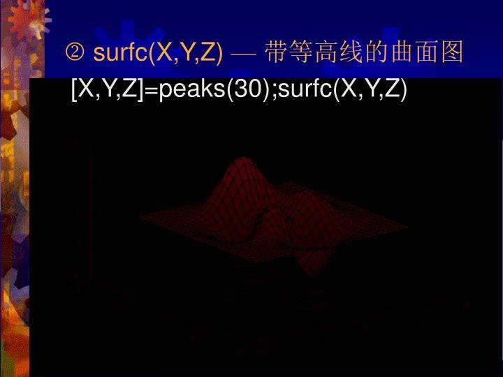  surfc(X,Y,Z)