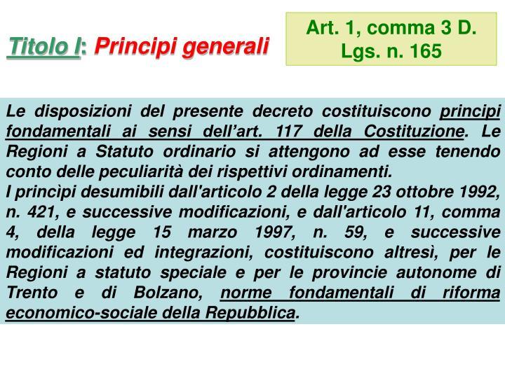 Art. 1, comma 3 D. Lgs. n. 165