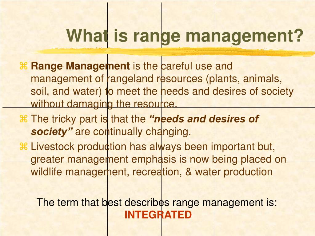 What is range management?
