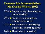common job accommodations macdonald wilson 2002