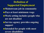 definition of supported employment