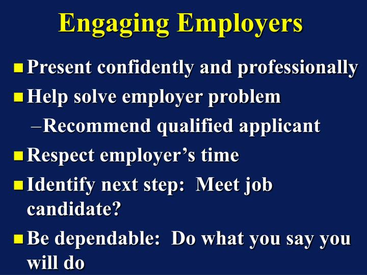 Engaging Employers