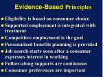evidence based principles