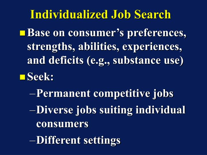 Individualized Job Search
