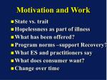 motivation and work