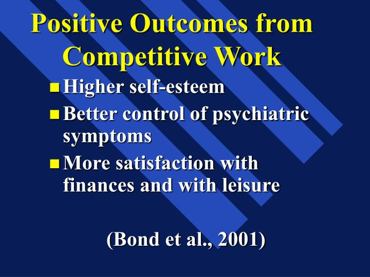 Positive Outcomes from Competitive Work