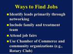 ways to find jobs
