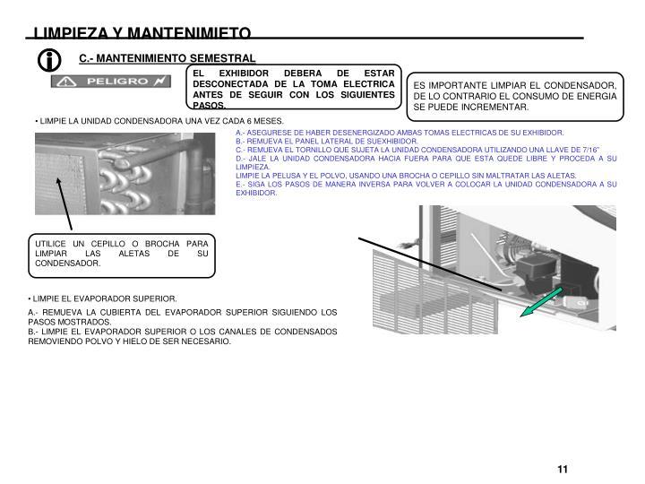 LIMPIEZA Y MANTENIMIETO