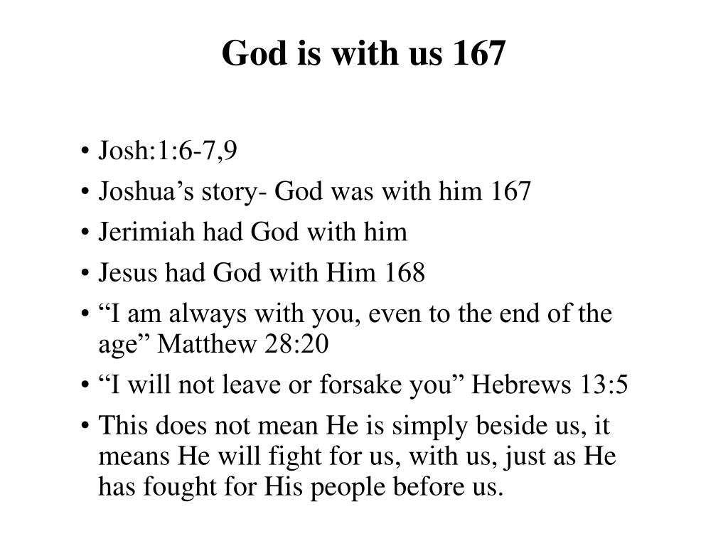 God is with us 167