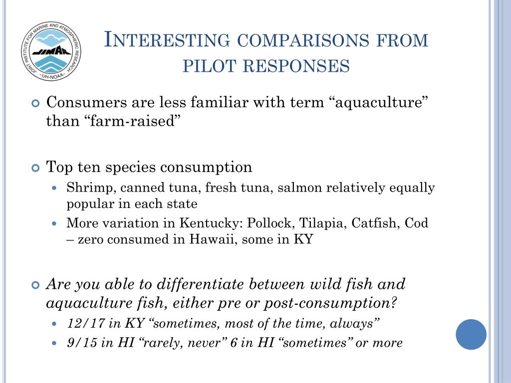 Interesting comparisons from pilot responses