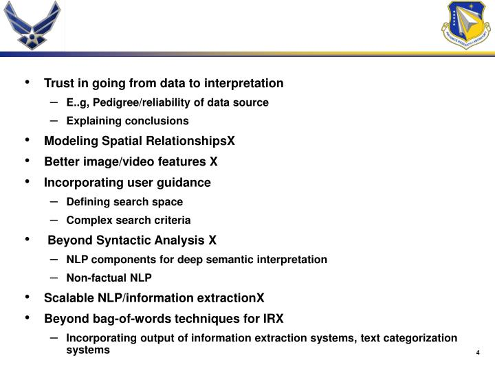 Trust in going from data to interpretation
