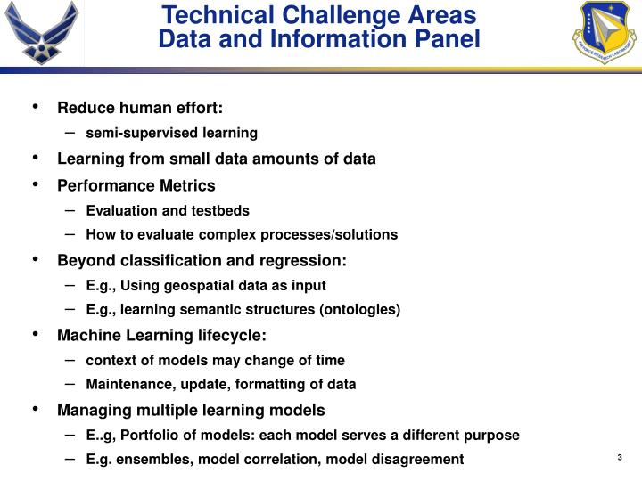 Technical Challenge Areas
