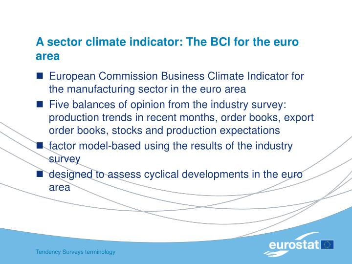 A sector climate indicator: The BCI for the euro area
