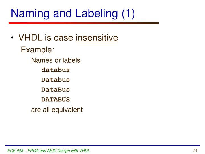Naming and Labeling (1)
