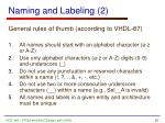 naming and labeling 2