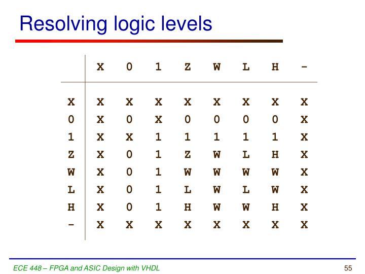 Resolving logic levels