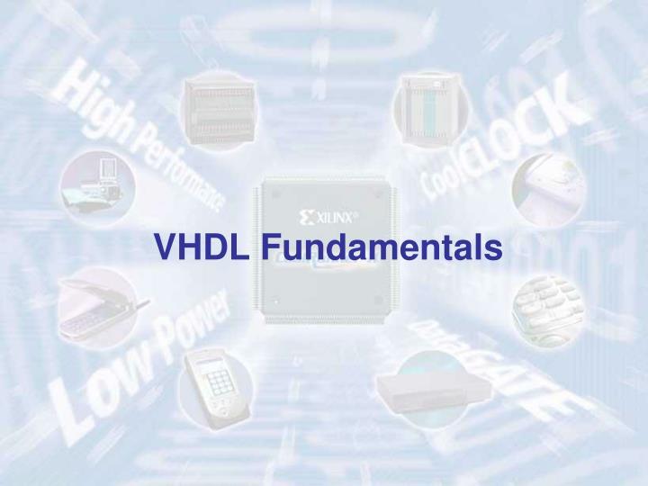 VHDL Fundamentals