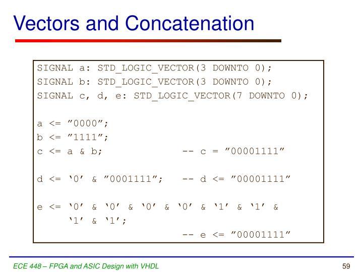 Vectors and Concatenation