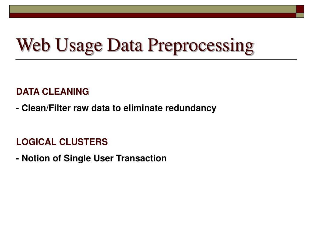 Web Usage Data Preprocessing