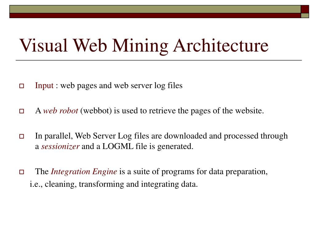 Visual Web Mining Architecture