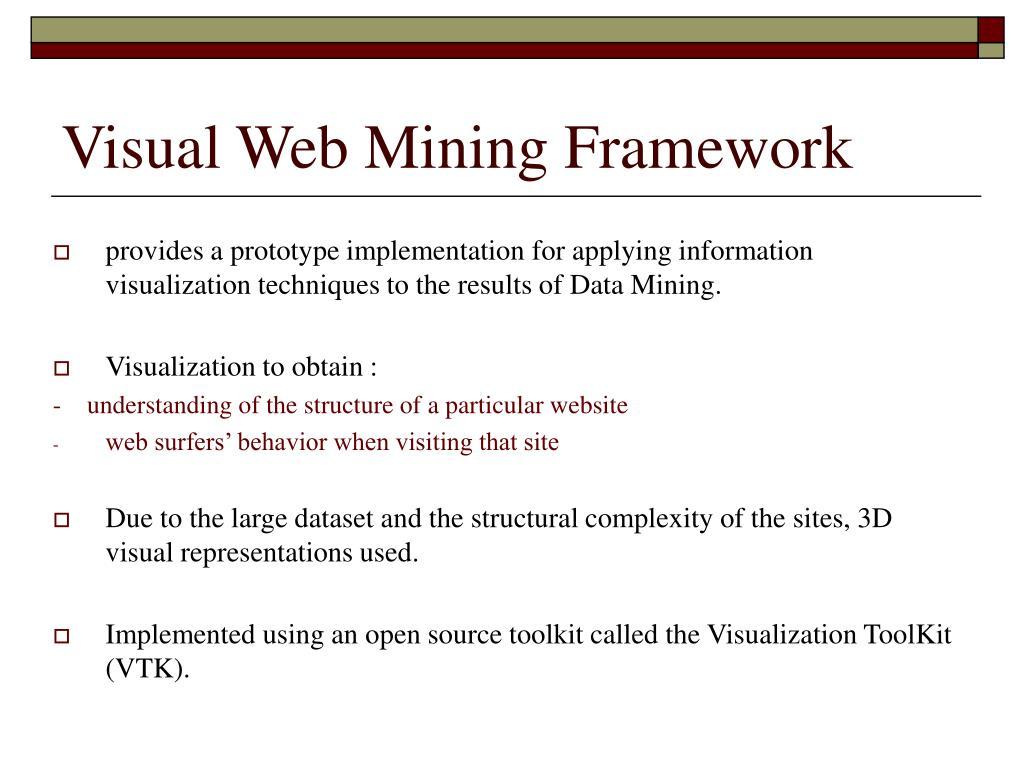 Visual Web Mining Framework