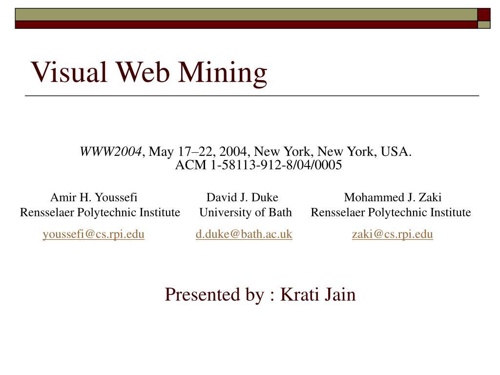 Visual Web Mining