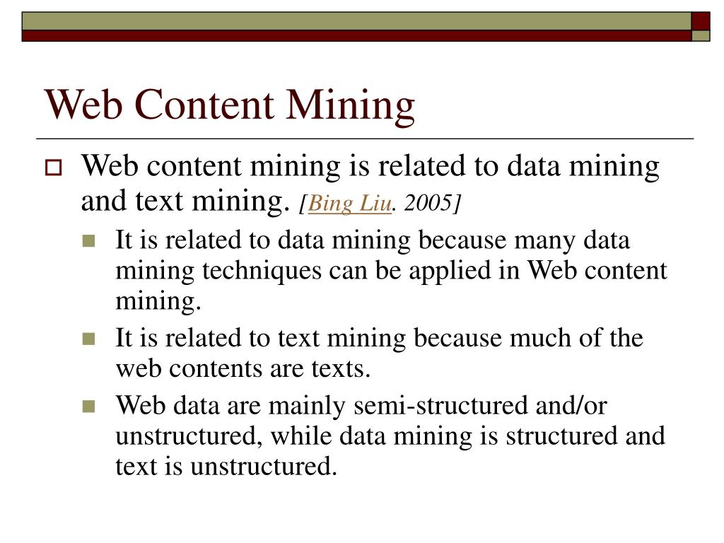 Web Content Mining