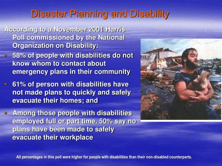 Disaster Planning and Disability
