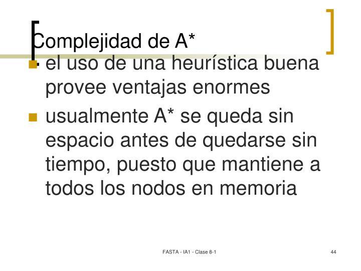 Complejidad de A*