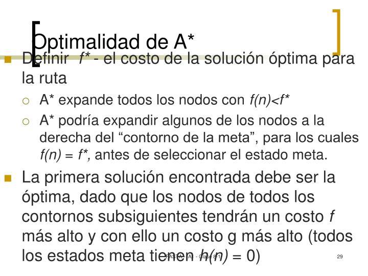 Optimalidad de A*