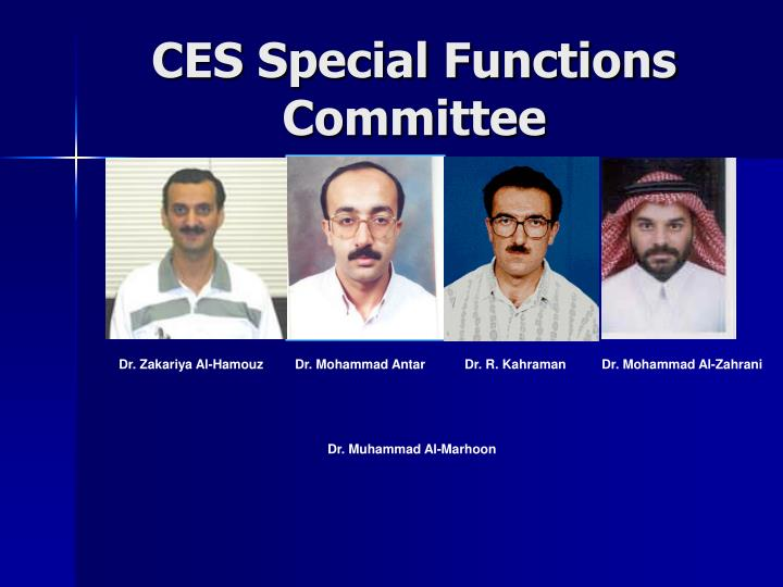CES Special Functions Committee