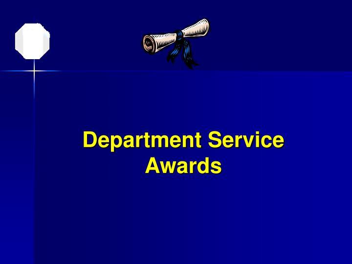 Department Service Awards