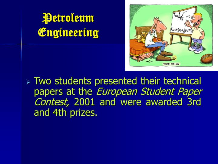 Two students presented their technical papers at the