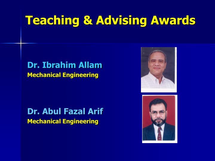Teaching & Advising Awards