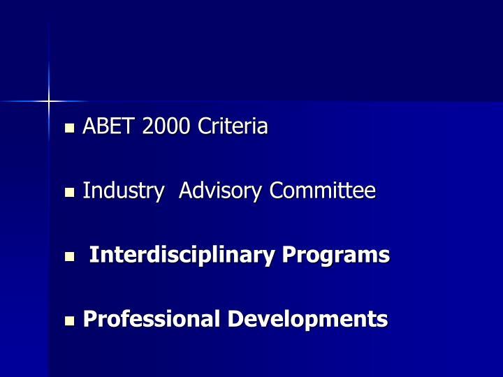 ABET 2000 Criteria