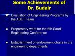 some achievements of dr budair