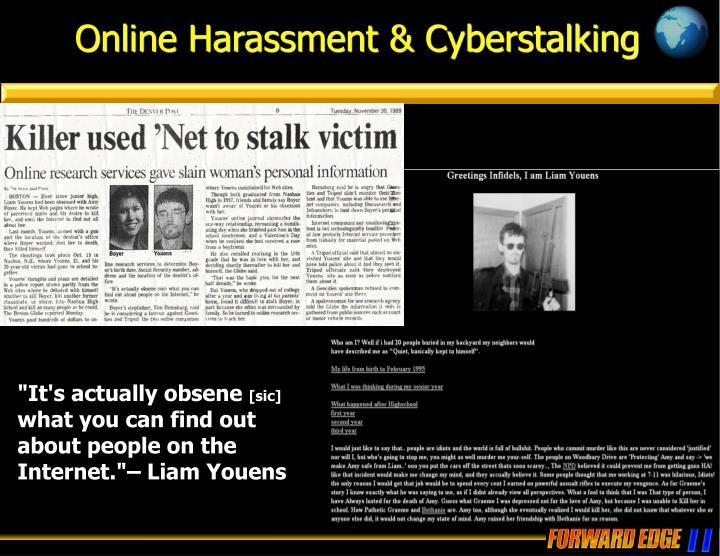 Online Harassment & Cyberstalking