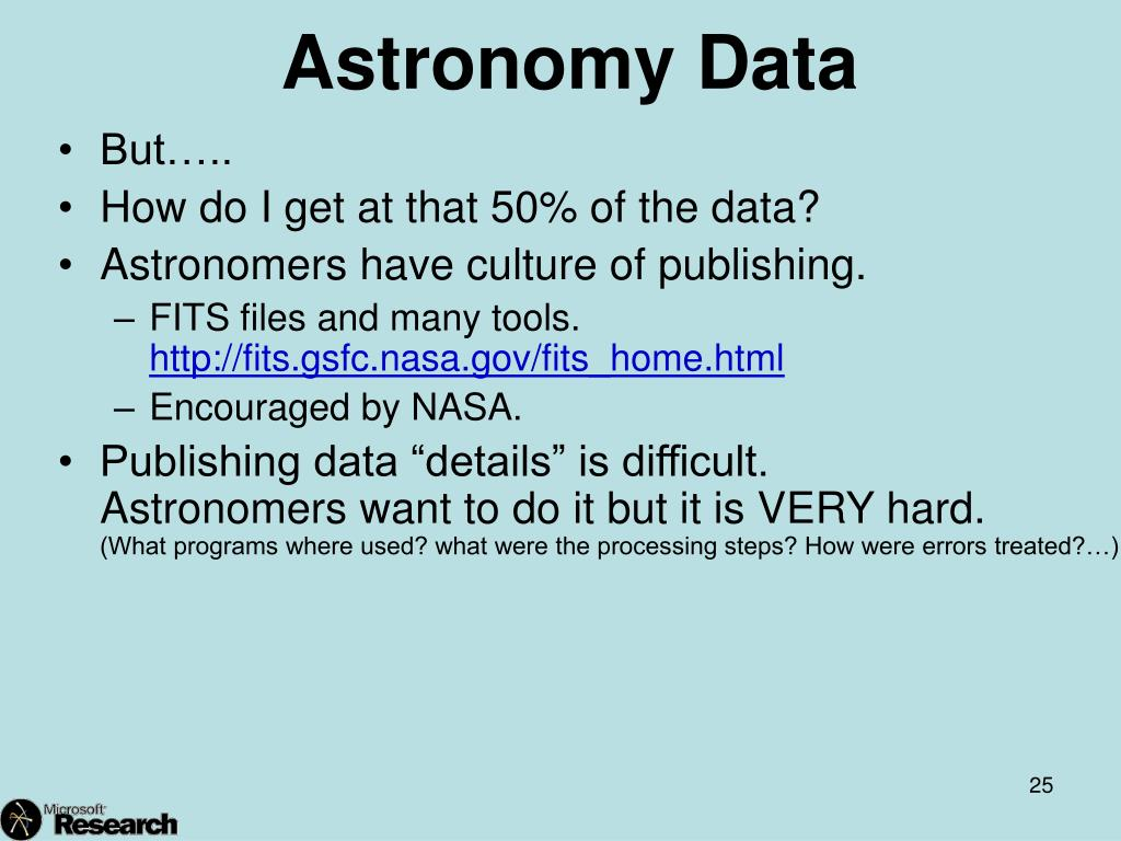 Astronomy Data