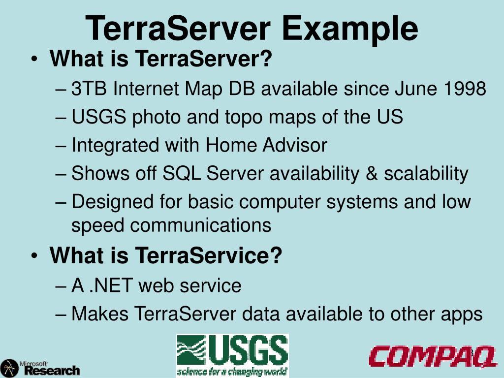 TerraServer Example