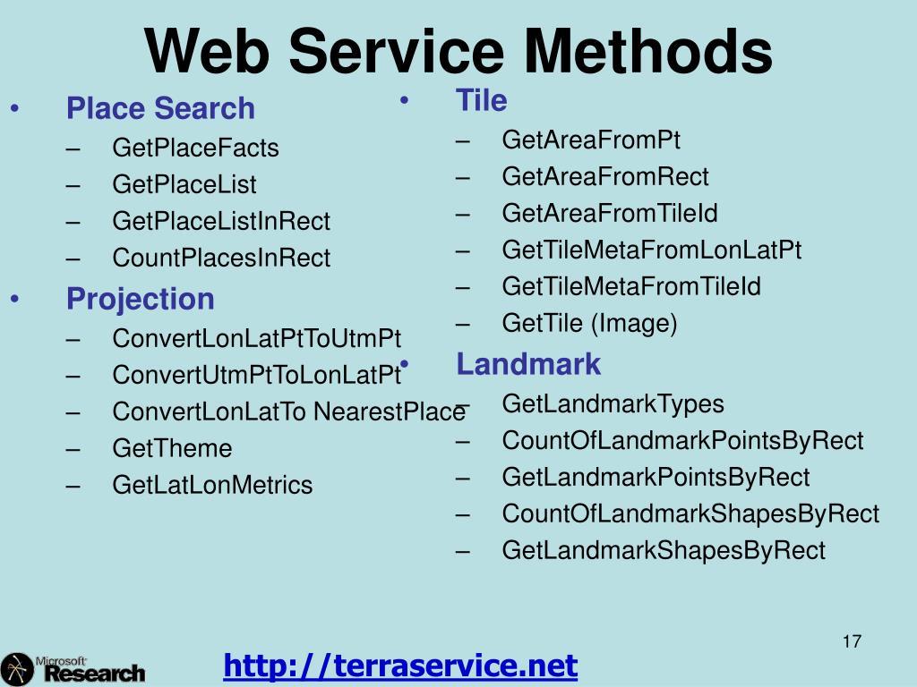 Web Service Methods
