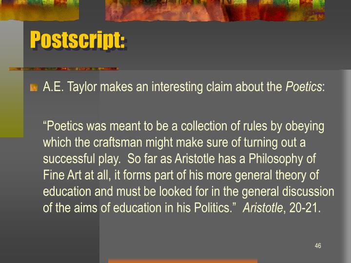 Postscript: