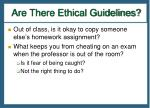 are there ethical guidelines1