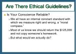 are there ethical guidelines2