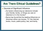 are there ethical guidelines4