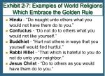 exhibit 2 7 examples of world religions which embrace the golden rule