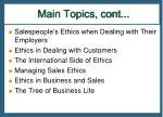 main topics cont